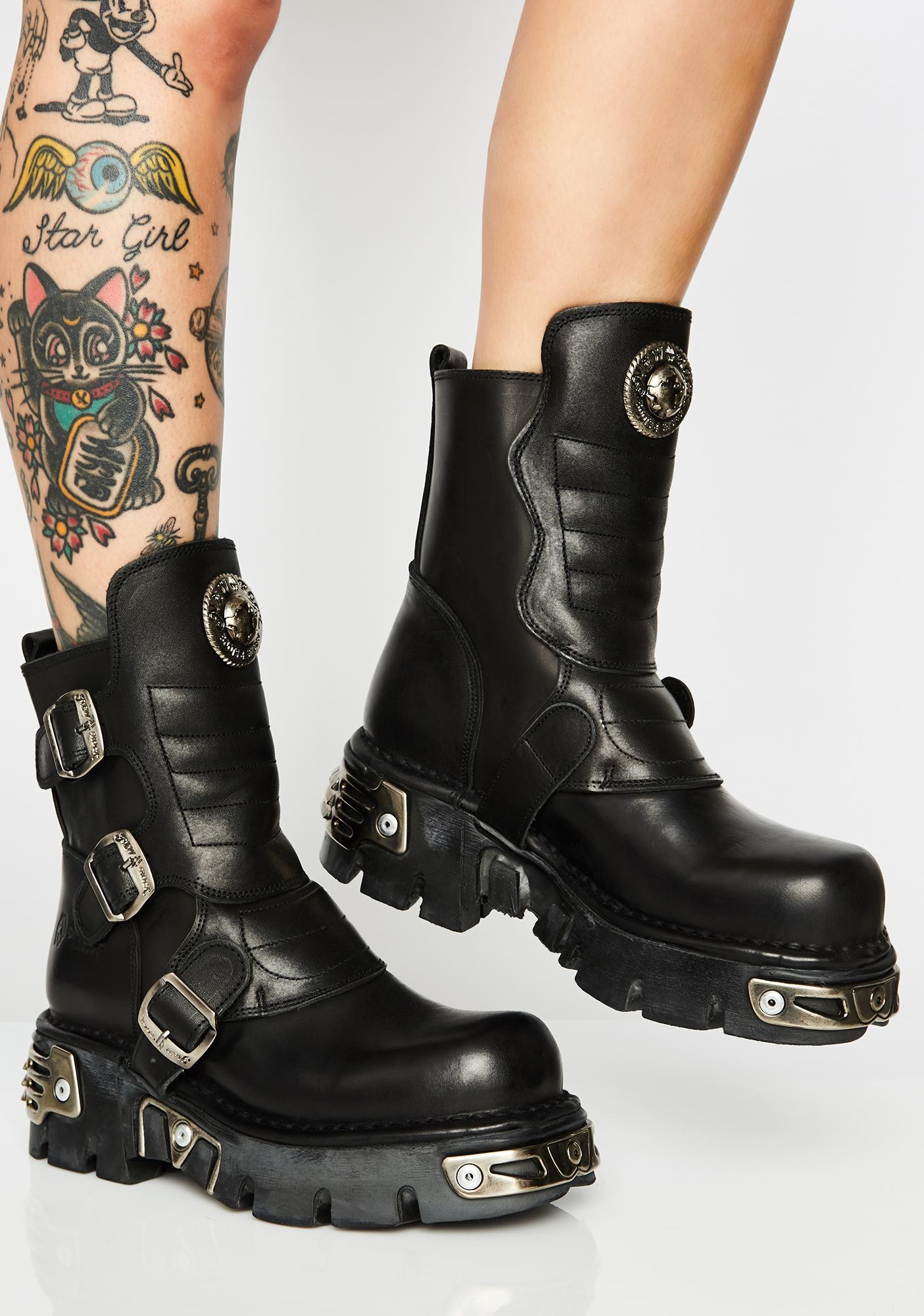New Rock Reactor Boots   Dolls Kill