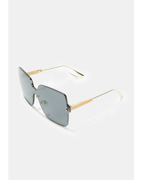 Dark Gray Big Dipper Oversized Sunglasses