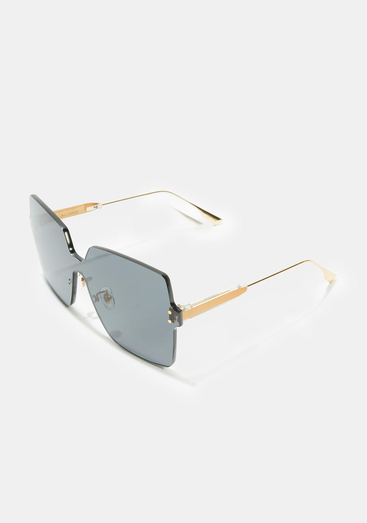 I-SEA Dark Gray Big Dipper Oversized Sunglasses