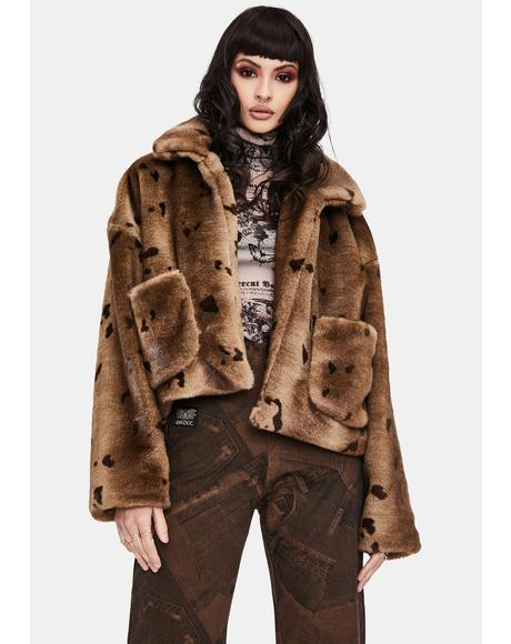 Overisized Faux Fur Jacket