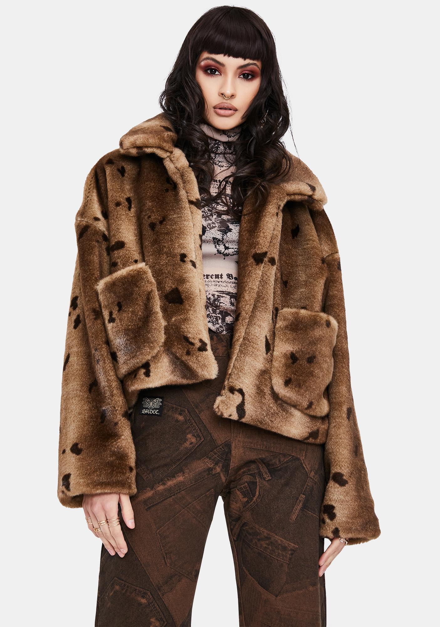 BADEE Overisized Faux Fur Jacket