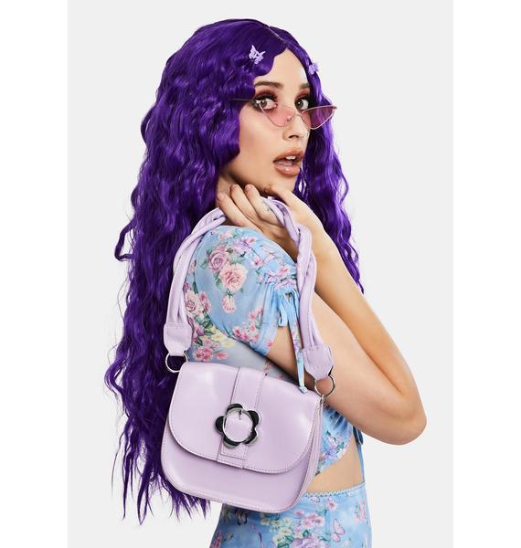 Lilac Flower Power Vibes Shoulder Bag
