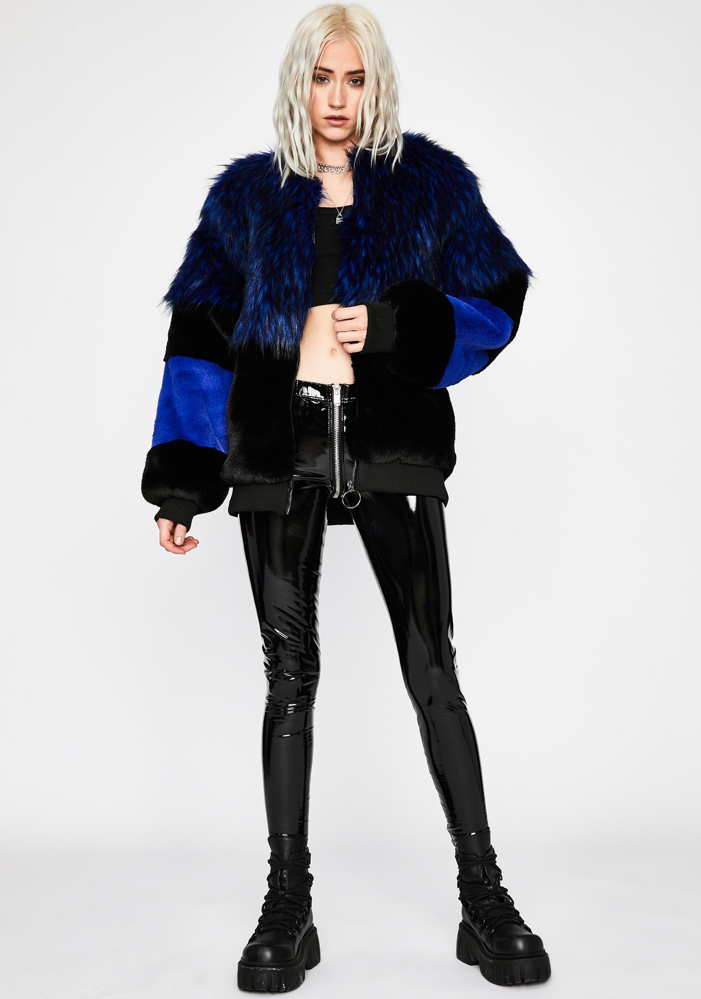 Fly For Free Faux Fur Coat