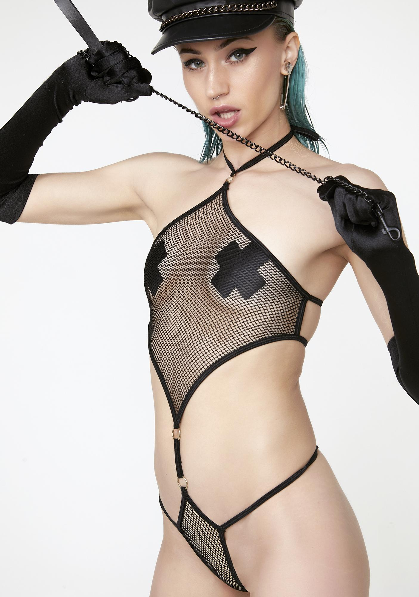 Diamond Club Mesh Bodysuit