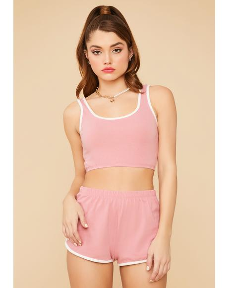 Blush Too Chill Too Care Lounge Short Set