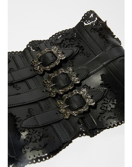 Path To The Underworld Vegan Leather Corset Belt