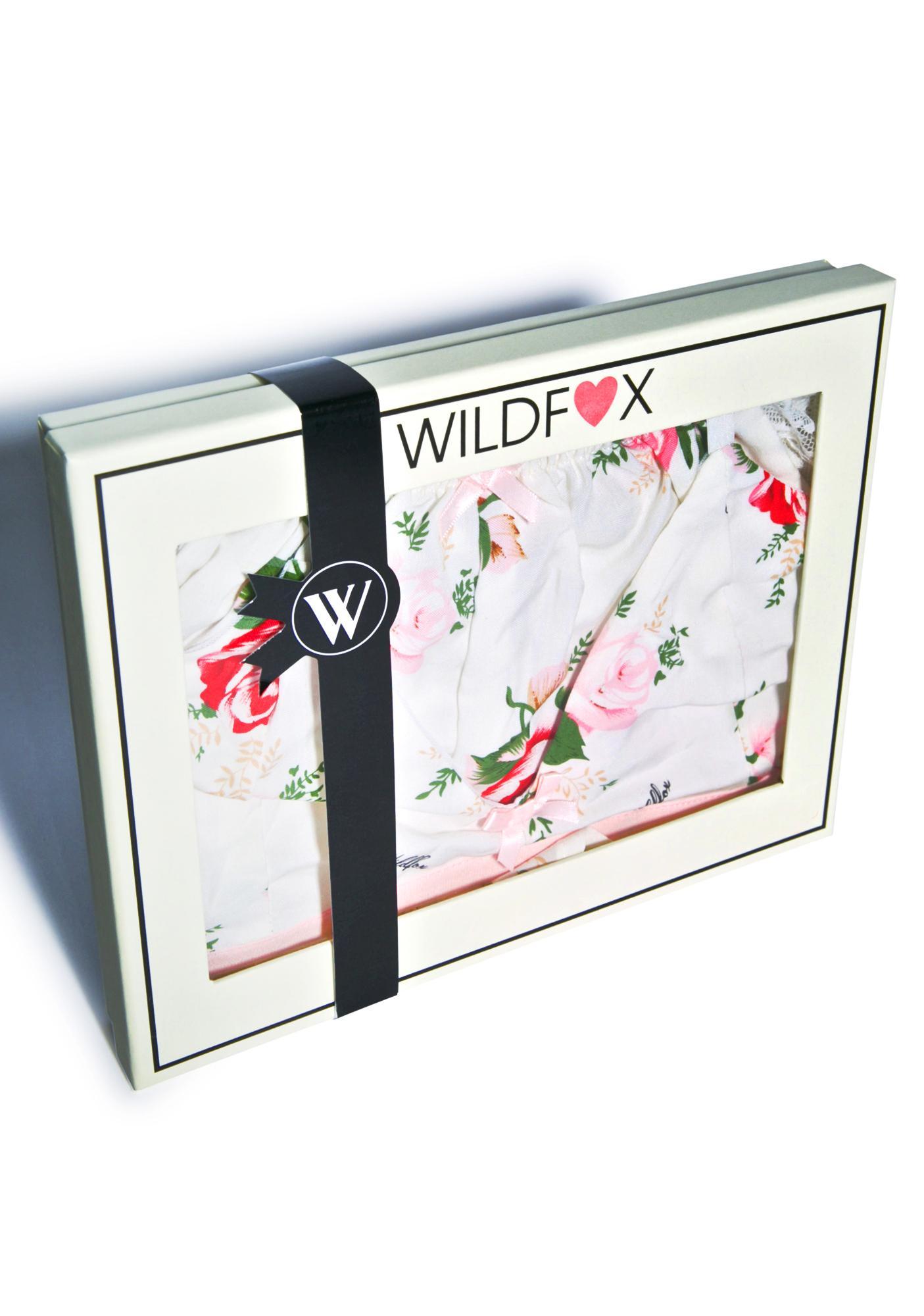 Wildfox Couture Lover's Bouquet Bra & Short Set