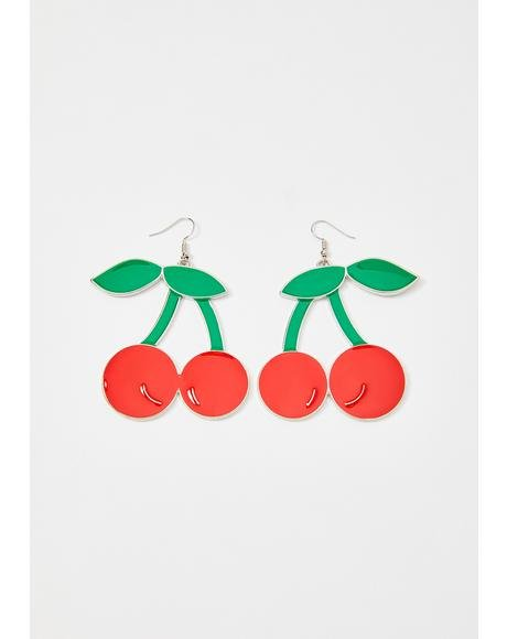 Scarlet Demure Cherry Earrings