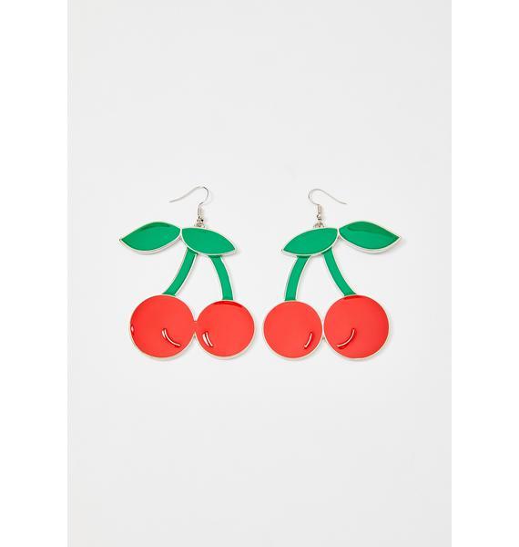 Scarlet Demure Cherry Earrings