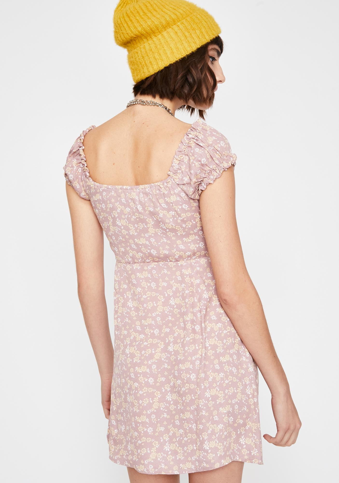 Rouge Mantis Floral Dress