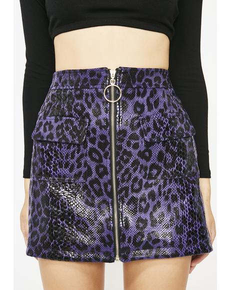 Wild Wifey Leopard Skirt