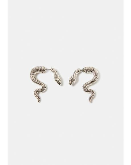 Temptations Snake Stud Earrings