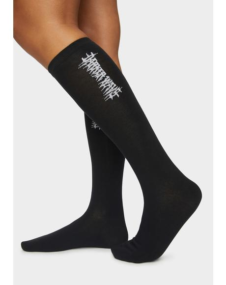 Synth Vertical Logo Crew Socks