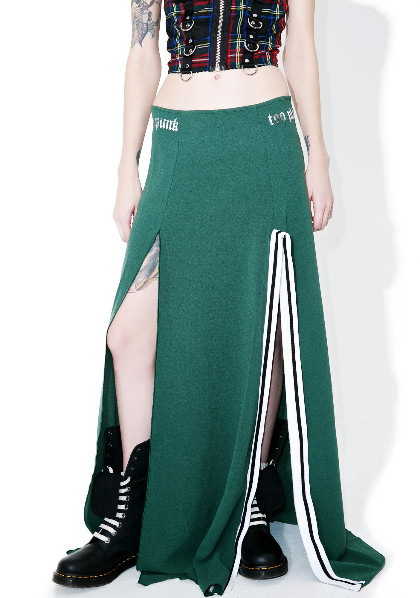 Happiness Too Punk To Play Maxi Skirt