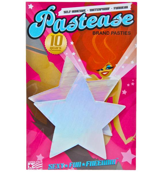 Pastease Rockstarr Holographic Pasties