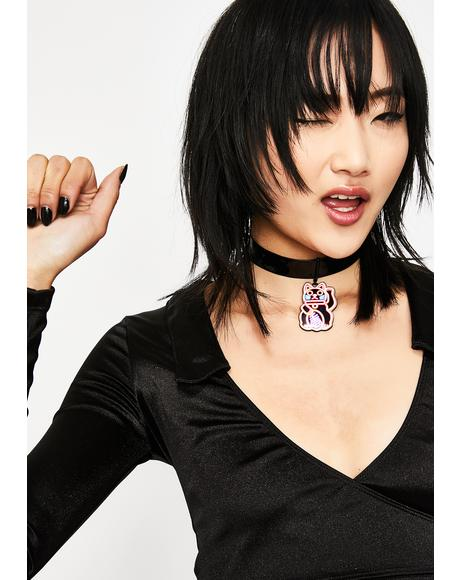 Kitty Lights Vinyl Choker