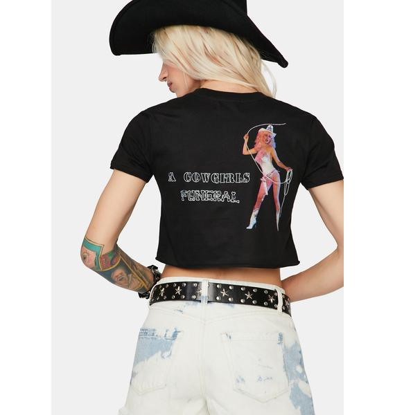Funeral Onyx Cowgirls Funeral Cropped Tee