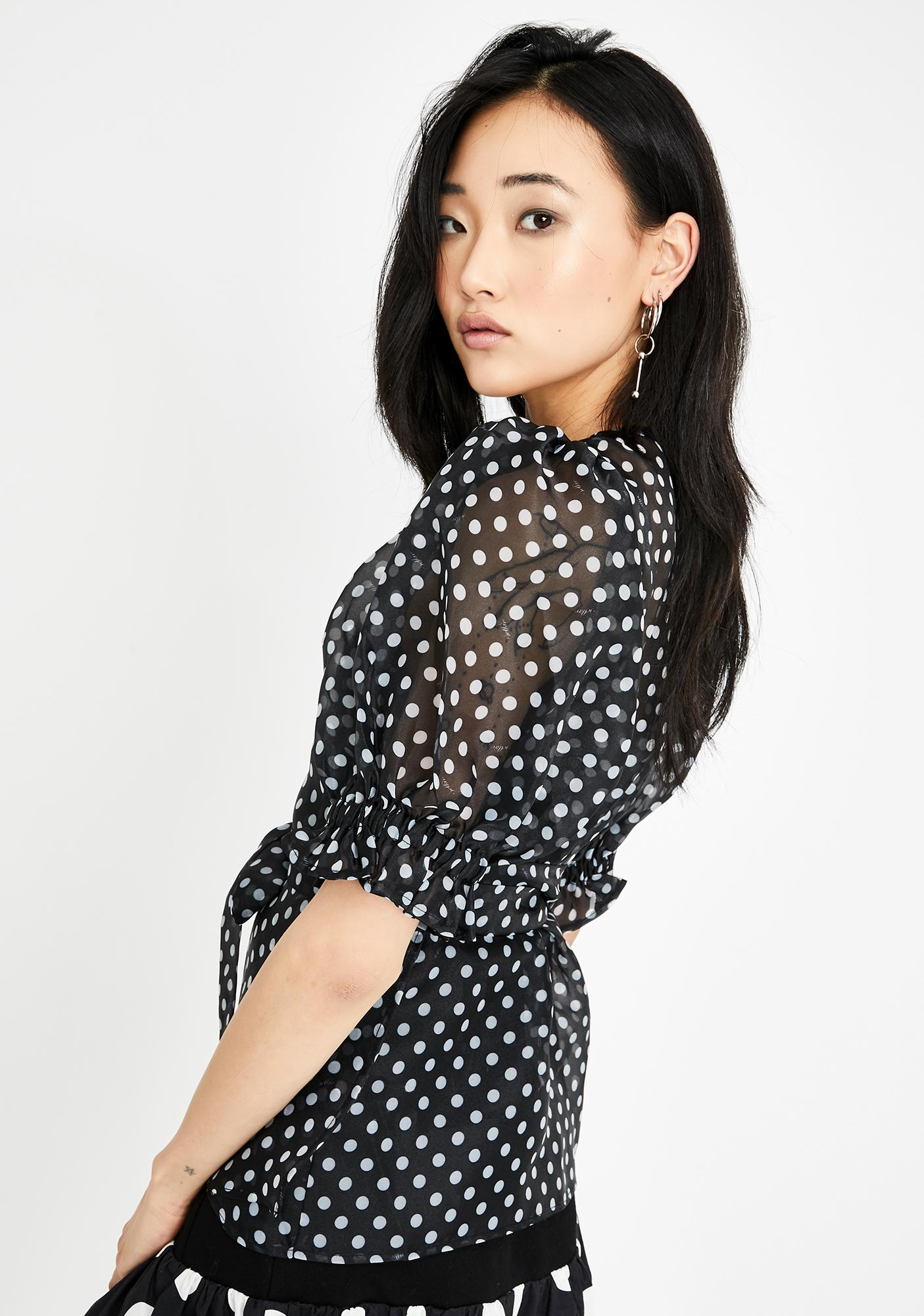 Selkie Polka Dot Cloud 9 Sheer Blouse