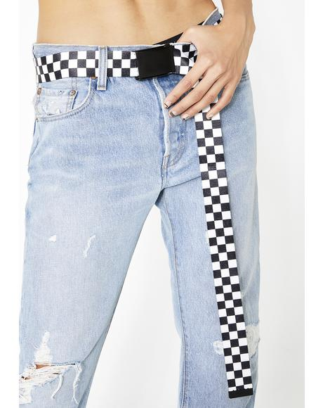 Pit Stop Checkered Belt