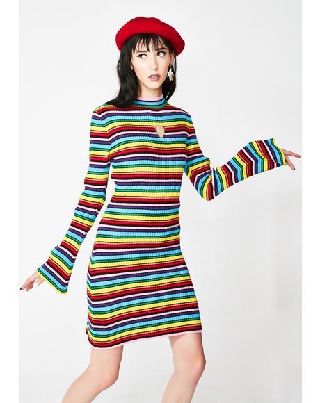 Rainbow Rib Dress