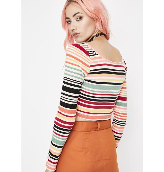 School Ya Striped Top