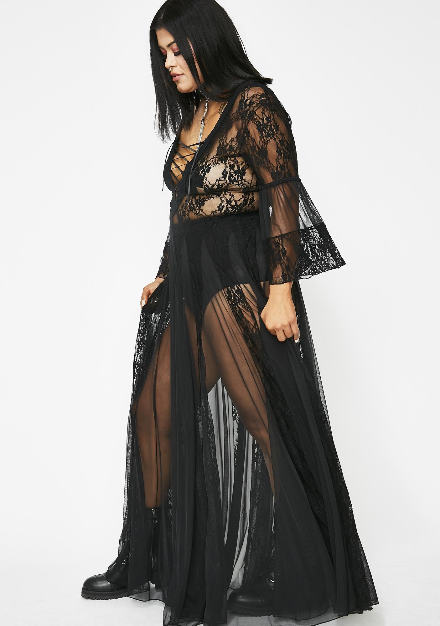 Kiki Riki Pitch Dark Modern Love Maxi Dress