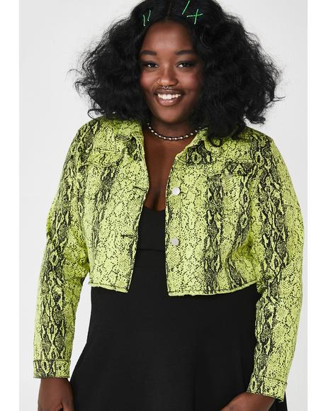 She's Electric Lady Danger Snakeskin Jacket