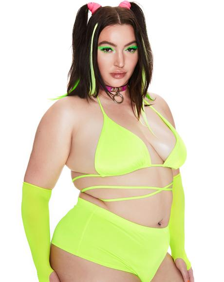 Nuclear Total Power Hour Wrap Bra Top