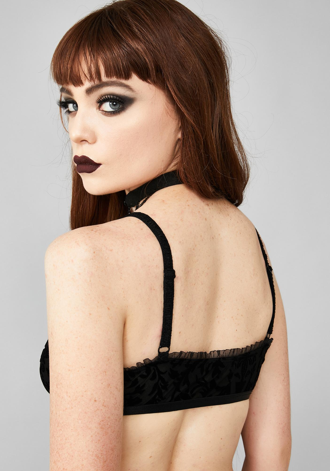 Widow Sleeping Curse Velvet Bralette