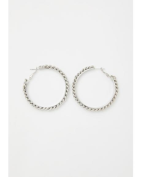 Cute Like That Braided Hoops