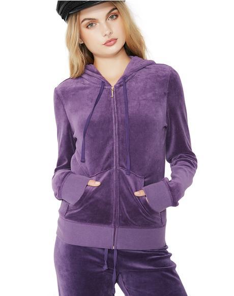 Violet Robertson Velour Jacket