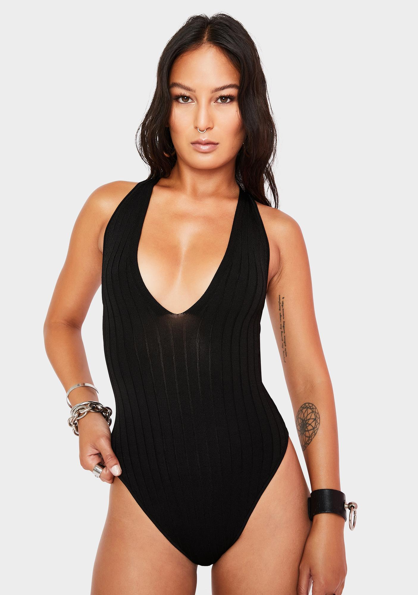 Free People Hot In Halters Bodysuit