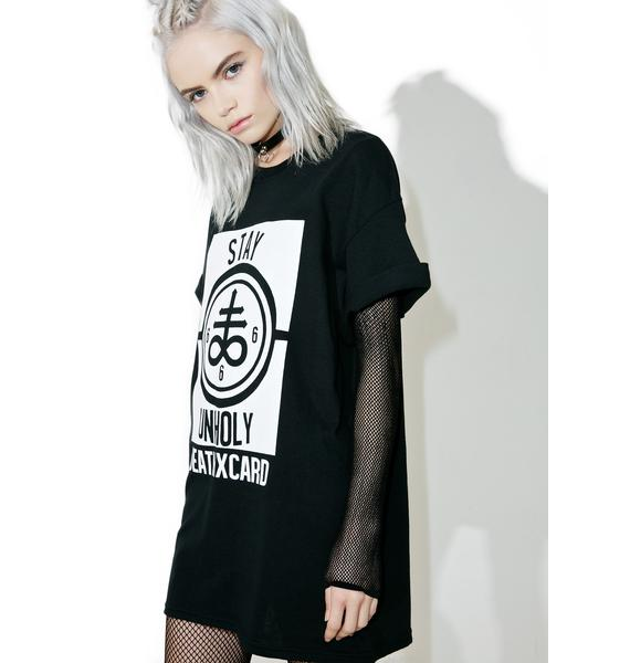 DeathxCard Apparel  Stay Unholy Tee