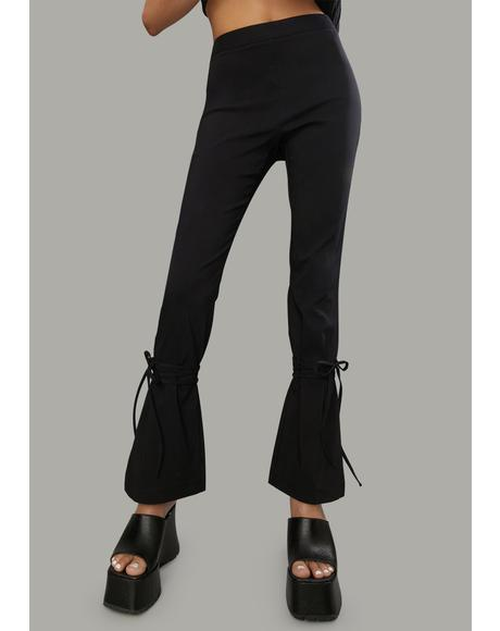 Power Moves Fitted Flare Pants