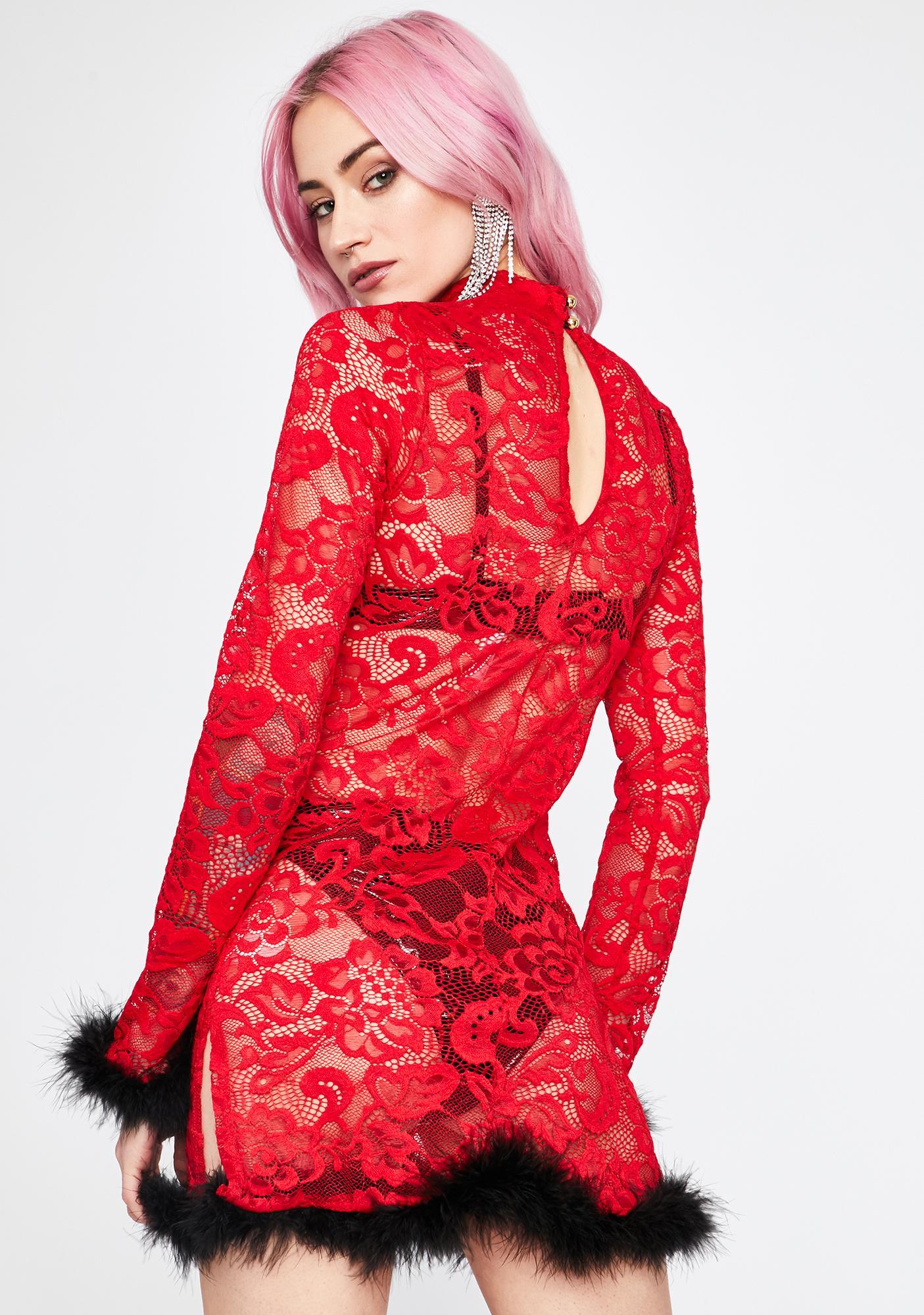 Spicy Haute Hussy Mini Dress