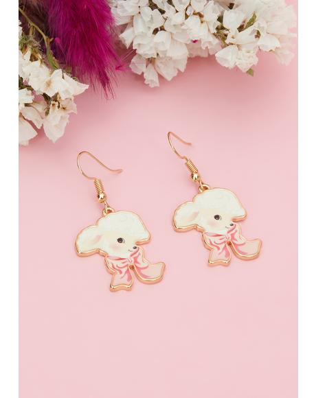 Furry Friends Drop Earrings