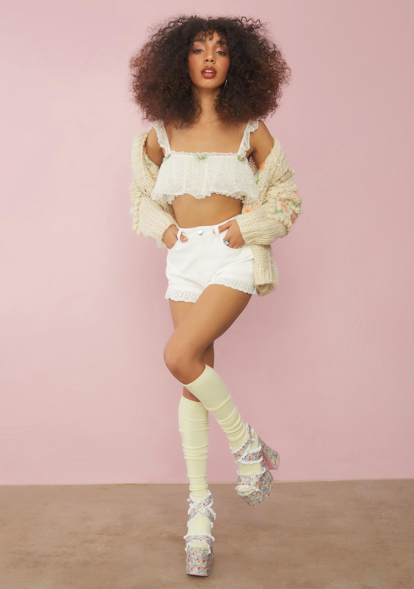 Sugar Thrillz Cream Extra Whip Lace Top