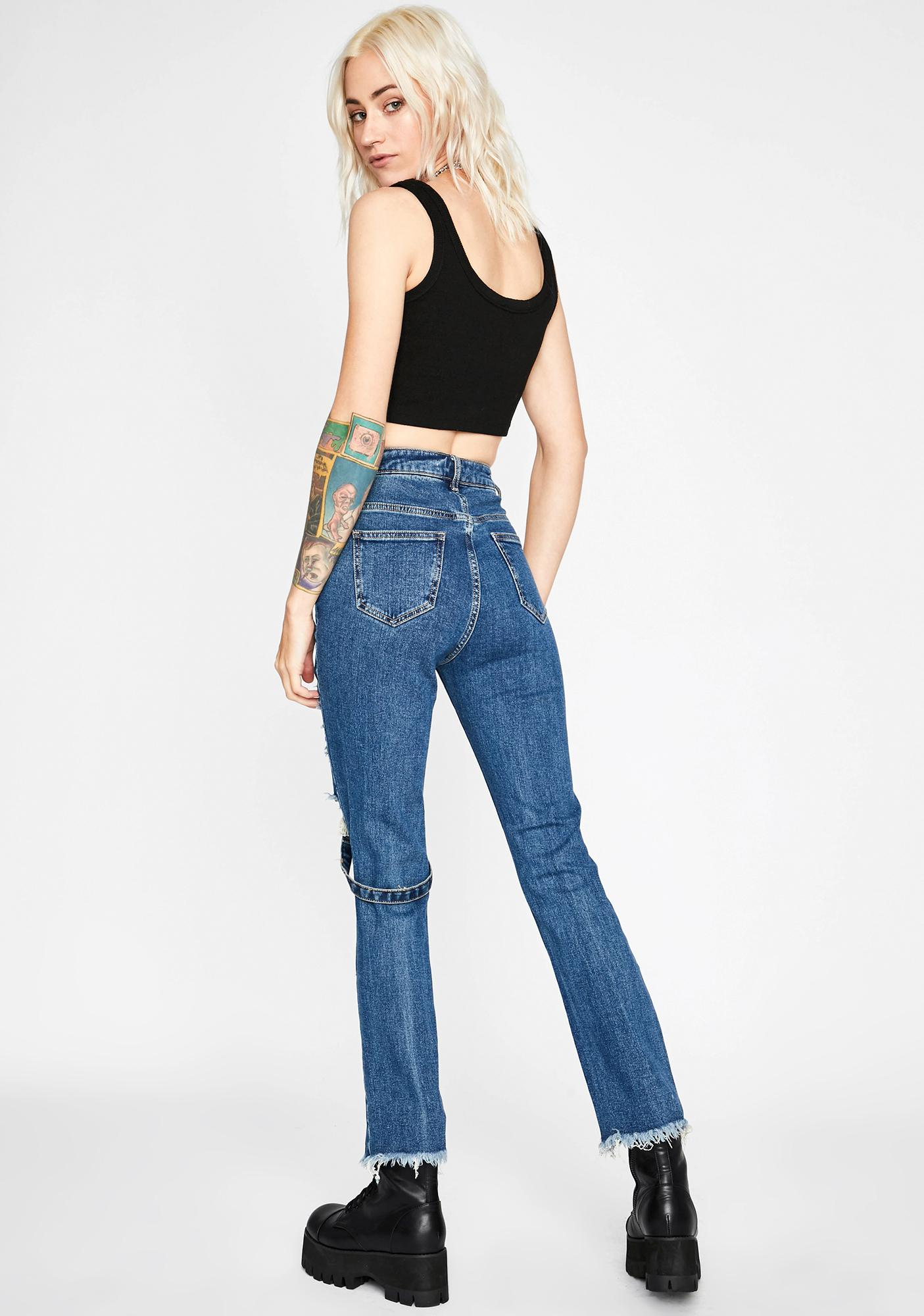 Babe Brutality Harness Jeans