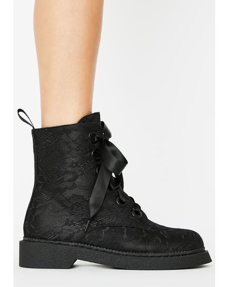 Fake Love Combat Boots