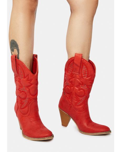 Red Denver Cowboy Boots