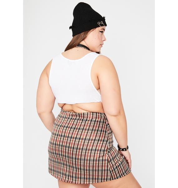 Maroon I Aim To Please Mini Skirt