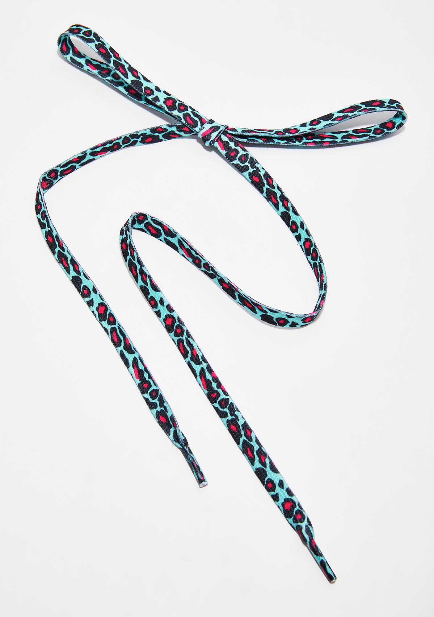 Pretty Kitty Leopard Shoelaces