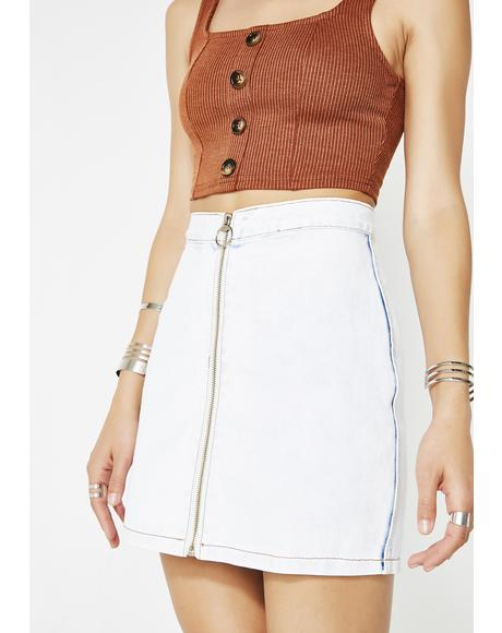 Not Going Back Denim Skirt