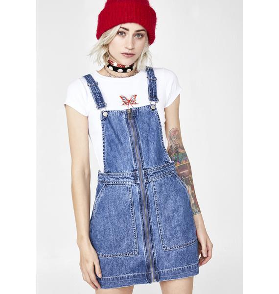 Dickies Girl Zip Front Overall Dress
