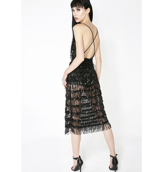 Kiki Riki Bad N' Bougie Fringe Dress