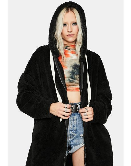 Hyped Up Longline Teddy Coat