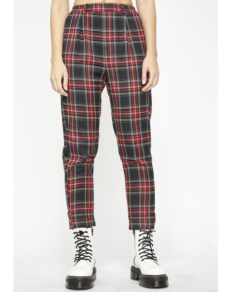 Riot Grl Plaid Trousers