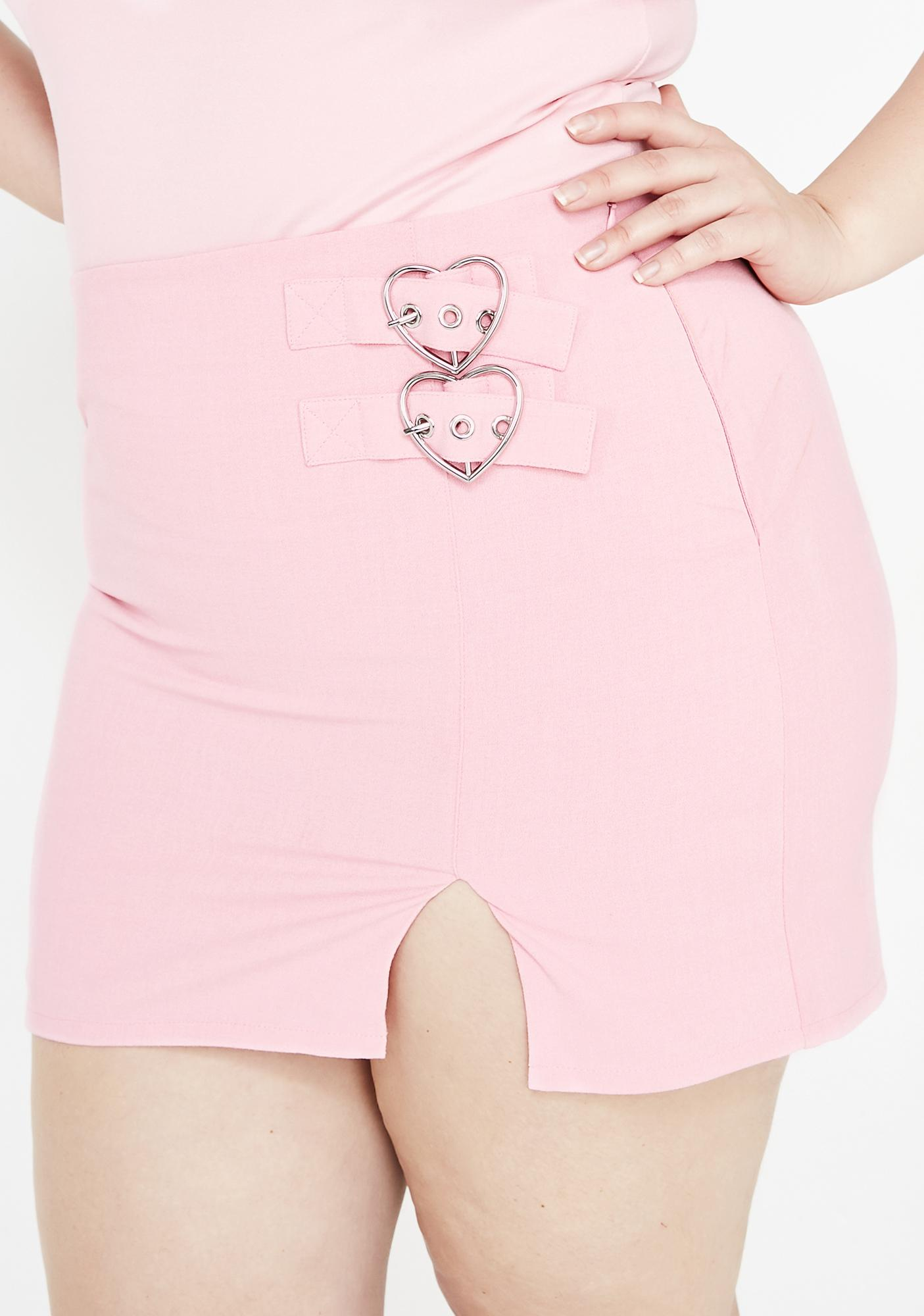 Sugar Thrillz Your Heart's Desire Mini Skirt