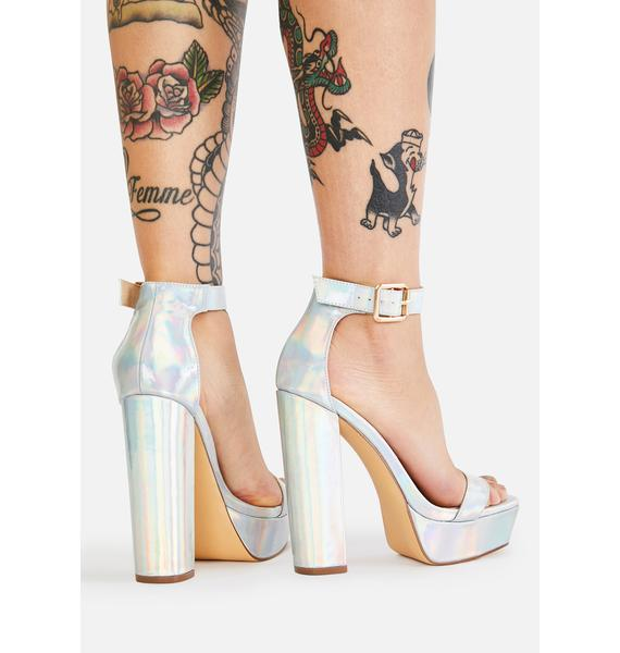 Holo Model Walk Platform Heels