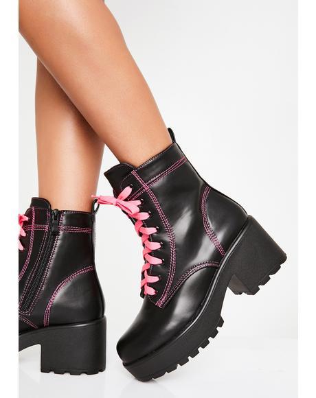 Candy Kitana Combat Boots